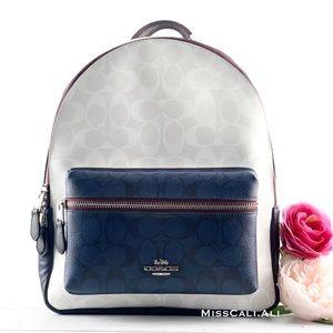 NWT COACH Medium Charlie Backpack Colorblock Bag
